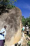 KENYA, ADS Anglican Development Services of Mount Kenya East, village Gichunguri, project water rock catchment, rain water harvest and storage in tanks for drought periods / Projekt Regenwasserauffang an einem Felsen und Speicherung in Tanks zur Nutzung in Duerreperioden