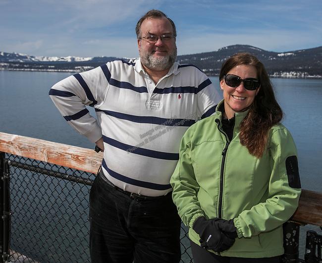 Gregory Sikorski and Heidi Bushway Verkler during Snowfest at North Lake Tahoe on Saturday, March 11, 2017.