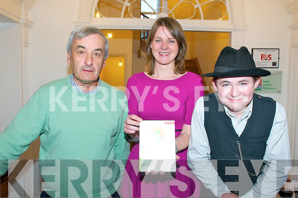 National Heritage Week Launch : Pictured at the National Heritage Week Launch at the Seanacji Centre in Listowel on Saturday night were Owen McMahon, Cathy Fisher & storyteller Bryan Murphy.