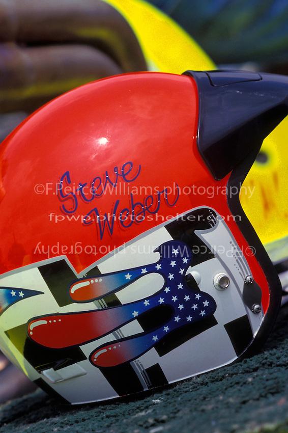 "Steve Weber's helmet, UL-23 ""Pegasus"". 1998 (Unlimited Light Hydroplane)"