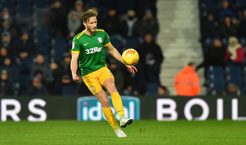 Preston North End's Ben Davies <br /> <br /> Photographer Dave Howarth/CameraSport<br /> <br /> The EFL Sky Bet Championship - West Bromwich Albion v Preston North End - Tuesday 25th February 2020 - The Hawthorns - West Bromwich<br /> <br /> World Copyright © 2020 CameraSport. All rights reserved. 43 Linden Ave. Countesthorpe. Leicester. England. LE8 5PG - Tel: +44 (0) 116 277 4147 - admin@camerasport.com - www.camerasport.com