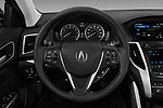 Car pictures of steering wheel view of a 2018 Acura TLX AUTO 4 Door Sedan