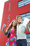 A Level Results 2012.Karlie Williams & Jonathon Pugh.Cross Keys College.16.08.12.©Steve Pope