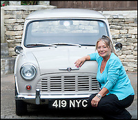 BNPS.co.uk (01202) 558833<br /> Picture: LauraJones/BNPS<br /> <br /> Owner of the Mini pickup truck Margaret Gould from Broadstone, Poole, Dorset.<br /> <br /> A classic Mini pickup truck is being sold for only the second time in its life with a pre-sale estimate of &pound;13,000.<br /> <br /> The 1961 open back vehicle has been owned by the same family since its was bought new by farmer Minnie Gould who used it to transport calves to market. <br /> <br /> It was given a new lease of life 30 years later by her son Fred who had it recommissioned and resprayed.