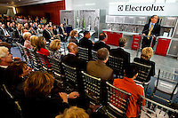 11/18/2010  - Press conference announcing the Electrolux grand opening event at their new Electrolux North American headquarters in Charlotte, North Carolina.