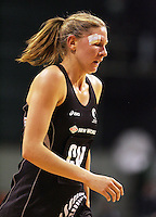 16.09.2008 Silver Ferns Casey Williams in action during the New World Netball test match between the Silver Ferns and Australia played at Westpac Arena in Christchruch. Mandatory Photo Credit ©Michael Bradley.