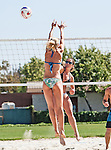 Long Beach, California, USA - April 28 : Women's Beach Volleyball action at USC - Long Beach in, Long Beach, California. .