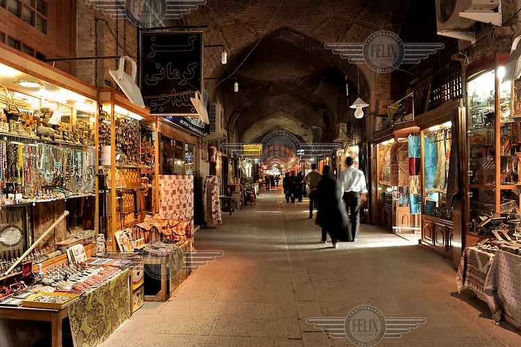 Stalls in the Isfahan Bazaar.