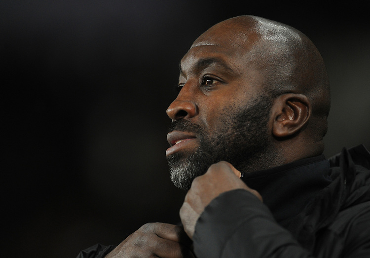 West Bromwich Albion manager Darren Moore <br /> <br /> Photographer Kevin Barnes/CameraSport<br /> <br /> The EFL Sky Bet Championship - Swansea City v West Bromwich Albion - Wednesday 28th November 2018 - Liberty Stadium - Swansea<br /> <br /> World Copyright © 2018 CameraSport. All rights reserved. 43 Linden Ave. Countesthorpe. Leicester. England. LE8 5PG - Tel: +44 (0) 116 277 4147 - admin@camerasport.com - www.camerasport.com