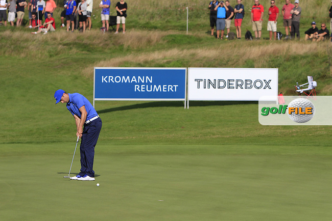 Ross Fisher (ENG) on the 14th green during Round 1 of the Made in Denmark 2016 at the Himmerland Golf Resort, Farso, Denmark on Thursday 25th August 2016.<br /> Picture:  Thos Caffrey / www.golffile.ie<br /> <br /> All photos usage must carry mandatory copyright credit   (&copy; Golffile | Thos Caffrey)