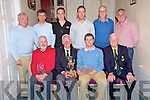 Gerry Collins, President Beaufort Golf Club pictured as he presented his gents prize, sponsored by Gerry Collins, to Keith McMahon, after the competition on Sunday night. Also pictured are Terry Ryan, second, Tom Grant, captain, Jerry Galvin, guest, Shane O'Sullivan, best gross, Richard O'Donoghue, junior, James Looney, longest drive, John Cooper, back nine and Brian Spillane, nearest the pin...NO FEE...PR PHOTO