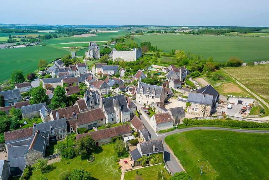 France, Indre-et-Loire (37), Crissay-sur-Manse, labelisé Plus Beaux Villages de France, village (vue aérienne)  // France, Indre et Loire, Crissay sur Manse, labelled Les Plus Beaux Villages de France (The Most beautiful Villages of France) (aerial view)