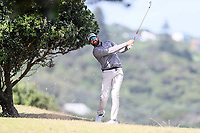 Daniel Pearce. Jennian Homes Charles Tour Autex Muriwai Open, Muriwai Links Golf Course, Muriwai, Auckland, New Zealand,Thursday 12 April 2018. Photo: Simon Watts/www.bwmedia.co.nz