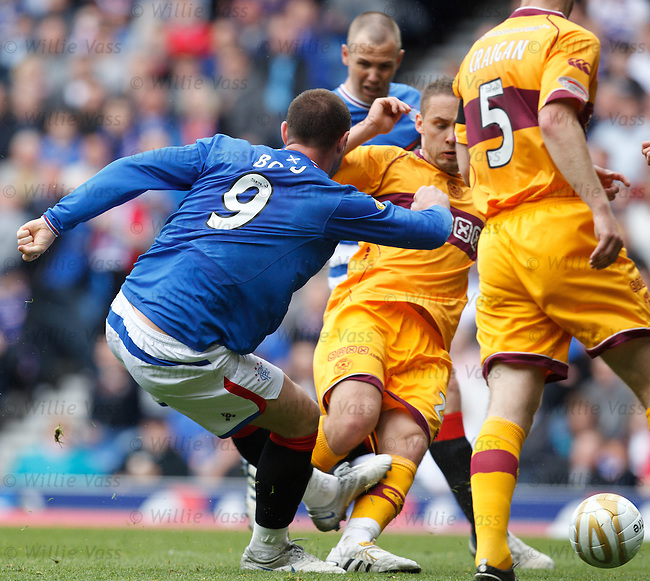 Kris Boyd swivels to score goal no 1