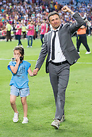 FC Barcelona's coach Luis Enrique Martinez with his daughter after Copa del Rey (King's Cup) Final between Deportivo Alaves and FC Barcelona at Vicente Calderon Stadium in Madrid, May 27, 2017. Spain.<br /> (ALTERPHOTOS/BorjaB.Hojas) /NortePhoto.com