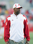 Wisconsin Badgers assistant coach Greg Jackson during warmups prior to the NCAA college football game against the Ohio State Buckeyes on October 16, 2010 at Camp Randall Stadium in Madison, Wisconsin. The Badgers beat the Buckeyes 31-18. (Photo by David Stluka)