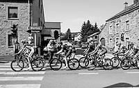 breakaway group making their way south towards Bastogne<br /> <br /> 104th Li&egrave;ge - Bastogne - Li&egrave;ge 2018 (1.UWT)<br /> 1 Day Race: Li&egrave;ge - Ans (258km)