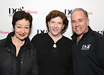 Lynn Ahrens, Sheri Wilner and Stephen Flaherty attend the reception for the 2018 Presentation of New Works by the DGF Fellows on October 15, 2018 at the Playwrights Horizons Theatre in New York City.