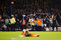 Blackpool fans and players celebrate at the final whistle<br /> <br /> Photographer Craig Mercer/CameraSport<br /> <br /> The EFL Sky Bet League Two Play-Off Semi Final Second Leg - Luton Town v Blackpool - Thursday 18th May 2017 - Kenilworth Road - Luton<br /> <br /> World Copyright &copy; 2017 CameraSport. All rights reserved. 43 Linden Ave. Countesthorpe. Leicester. England. LE8 5PG - Tel: +44 (0) 116 277 4147 - admin@camerasport.com - www.camerasport.com