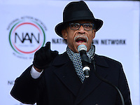 Washington, DC - January 14, 2017: Rev. Al Sharpton, president of the National Action Network, speaks to hundreds of people gathered on the National Mall, January 14, 2017, to recommit to Dr. Martin Luther King's vision.   (Photo by Don Baxter/Media Images International)