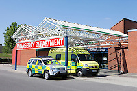 Paramedic Ambulances outside Hospital Accident and Emergency Department