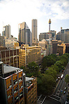 The view of Sydney Tower from Room 2005 of the York Apartment Hotel.