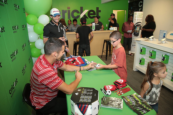 DALLAS, TX - JUNE 27: Cricket Wireless event on Maple Ave. in Dallas, Texas on June 27, 2015 (Photo by Rick Yeatts Photography)
