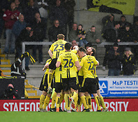 Burton Albion's Lucas Akins celebrates scoring his side's third goal with team-mates<br /> <br /> Photographer Chris Vaughan/CameraSport<br /> <br /> The EFL Sky Bet League One - Burton Albion v Blackpool - Saturday 16th March 2019 - Pirelli Stadium - Burton upon Trent<br /> <br /> World Copyright &copy; 2019 CameraSport. All rights reserved. 43 Linden Ave. Countesthorpe. Leicester. England. LE8 5PG - Tel: +44 (0) 116 277 4147 - admin@camerasport.com - www.camerasport.com