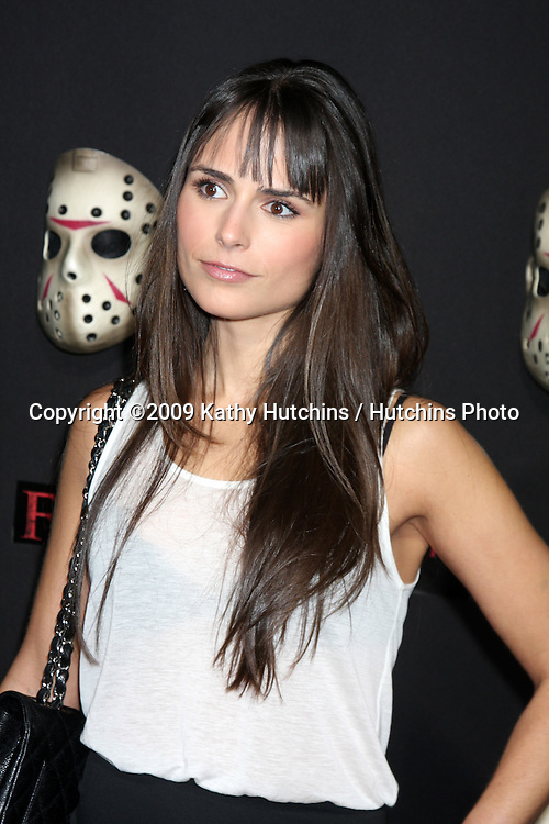 Jordana Brewster  arriving at the Friday the 13th 2009 Premiere at Mann's Village Theater in Los Angeles, CA on .February 9, 2009.©2009 Kathy Hutchins / Hutchins Photo..