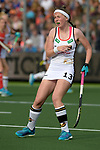 NED - Amsterdam, Netherlands, August 20: During the women Pool B group match between Germany (white) and England (red) at the Rabo EuroHockey Championships 2017 August 20, 2017 at Wagener Stadium in Amsterdam, Netherlands. Final score 1-0. (Photo by Dirk Markgraf / www.265-images.com) *** Local caption *** Teresa Martin Pelegrina #13 of Germany