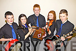 Musicians from Ballydonoghue who were competing in the Munster Semi finals of Scór na nÓg held last Sunday in Askeaton, Co Limerick, pictured l-r: Ciarán Ó Conaill, Myra Ní Chonaill, Caoimhin Ó Néill, Cassandra Ní Chreimín and Jason Ó Foghlú.