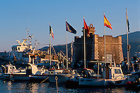 Hafen + Gallo-Turm in Portoferraio,  Elba, Italien