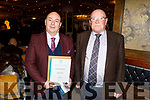 Thomas Mann (Abbeyfeale) and Chris Threader (Kilgarvan) Receiving their Certificates at the Presentation of Certificate Ceremony by the Kerry College, Monavalley Campus in the Rose Hotel on Thursday night.