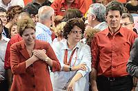 ATENCAO EDITOR IMAGEM EMBARGADA PARA VEICULOS INTERNACIONAIS - SAO PAULO, SP, 20 OUTUBRO 2012 - ELEICOES 2012 - FERNANDO HADDAD - A ministra meio ambiente Isabela Teixeira durante comício do candidato Fernando Hadddad com presenca presidente da Republica Dilma Rousseff e o ex presidente Luiz Inacio Lula da Silva no Ginasio do Caninde na regiao norte da capital paulista, neste sábado, 20. (FOTO: ALEXANDRE MOREIRA / BRAZIL PHOTO PRESS).
