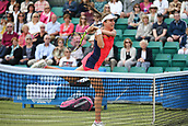 June 16th 2017, Nottingham, England;WTA Aegon Nottingham Open Tennis Tournament day 7;  Johanna Konta of Great Britain plays a volley winner; Konta won 6-3, 7-5 to reach the semi finals