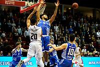 GRONINGEN - Basketbal, Donar - Landstede Zwolle , Martiniplaza,  halve finale beker, seizoen 2017-2018, 13-02-2018,  Donar speler Brandyn Curry in duel met Landstede speler Franko House