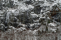 Cliffs In Winter On Wallface Mountain In The Adirondack Mountains Of New York State