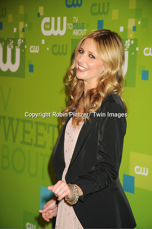 """Sarah Michelle Gellar of new CW show """"Ringer"""" attending The CW 2011 Upfront on May 19, 2011 at Jazz at Lincoln Center in New York City."""