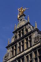 Europe/Belgique/Flandre/Province d'Anvers/Anvers : Détail des façades de la Grand-Place