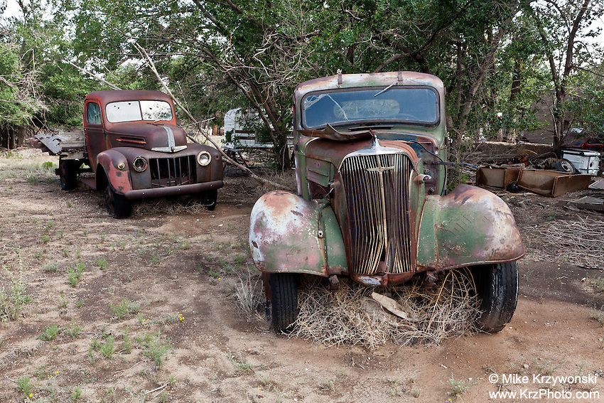 Old Abandoned Pick-Up Trucks in Nara Visa, NM