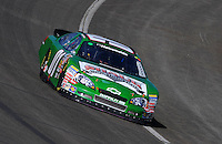 Oct. 10, 2009; Fontana, CA, USA; NASCAR Nationwide Series driver Mike Wallace during the Copart 300 at Auto Club Speedway. Mandatory Credit: Mark J. Rebilas-
