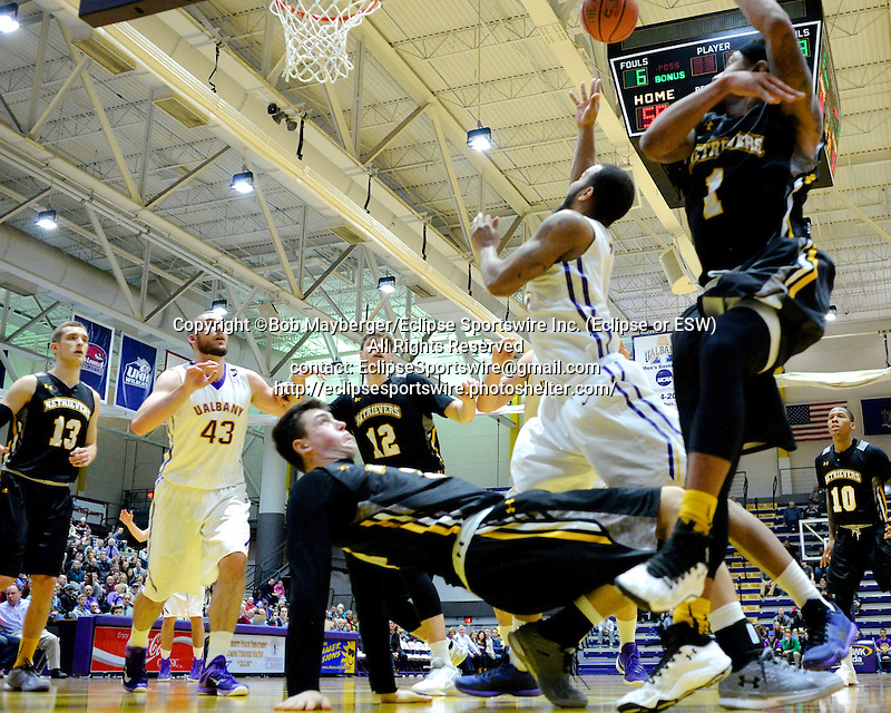 Albany defeats UMBC 73-59 in a game on January 06, 2016 at SEFCU Arena in Albany, New York.  (Bob Mayberger/Eclipse Sportswire)