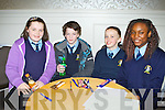 St Olivers NS team who participated in the Credit Union National School's table quiz in the Killarney Oaks Hotel on Sunday l-r: Chloe Mai Duggan, Killian Broadberry, jonathan Greene and Praise Tilies .