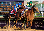 November 3, 2018: Accelerate #14, ridden by Joel Rosario, wins the Breeders' Cup Classic on Breeders' Cup World Championship Saturday at Churchill Downs on November 3, 2018 in Louisville, Kentucky. Eric Patterson/Eclipse Sportswire/CSM
