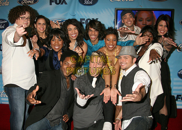"""Top 12 American Idol Contestants, 2007.""""American Idol"""" Season 6 Top 12 Finalists Party at Astra West/Pacific Design Center, West Hollywood, California, USA, 8 March 2007..half length.CAP/ADM/BP.©Byron Purvis/AdMedia/Capital Pictures."""