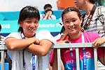 (L-R) Kaya Isa, Sakura Yosozumi (JPN), <br /> AUGUST 28, 2018 - Skateboarding : <br /> Men's Park Qualification<br /> at Jakabaring Sport Center Skatepark <br /> during the 2018 Jakarta Palembang Asian Games <br /> in Palembang, Indonesia. <br /> (Photo by Yohei Osada/AFLO SPORT)