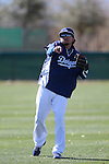 Alfredo amezaga     of Los Angeles Dodgers,during Spring Trainig 2013..Camelback Ranch  in Arizona. February 25, 2013