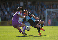 Ryan Sellers of Wycombe Wanderers in action during the Sky Bet League 2 match between Wycombe Wanderers and Plymouth Argyle at Adams Park, High Wycombe, England on 12 September 2015. Photo by Andy Rowland.