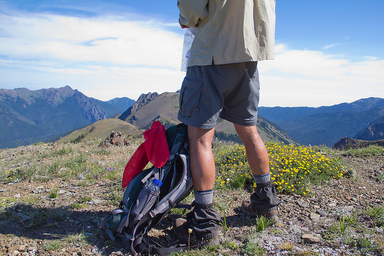 Hiking, Buckhorn Wilderness, Olympic Mountains, Marmot Pass, Tubal Cain Trail, Dungeness Drainage, Gary Parker,