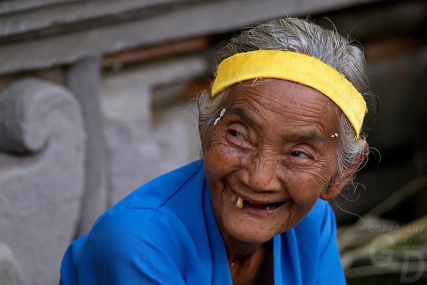 Old women at Tirta Empul Temple, Bali